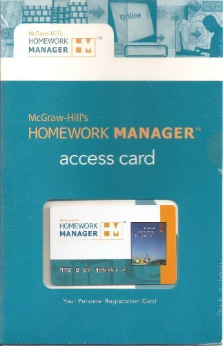 9780073265612: McGraw-Hill's Homework Manager Access Card to accompany Financial Accounting Fundamentals