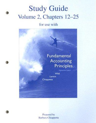 9780073266381: Study Guide Vol 2 to accompany FAP Volume 2 (CH 12-25)