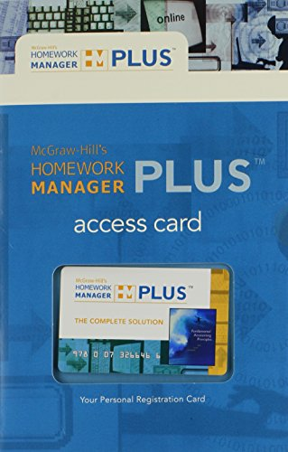 9780073266466: McGraw-Hill's Homework Manager Plus Access Card to accompany FAP 18e