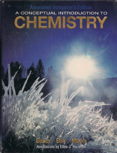 9780073267616: A Conceptual Introduction to Chemistry ( Annotated Instructor's Edition)