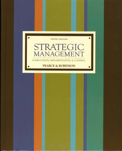 9780073267869: Strategic Management: Formulation, Implementation, and Control