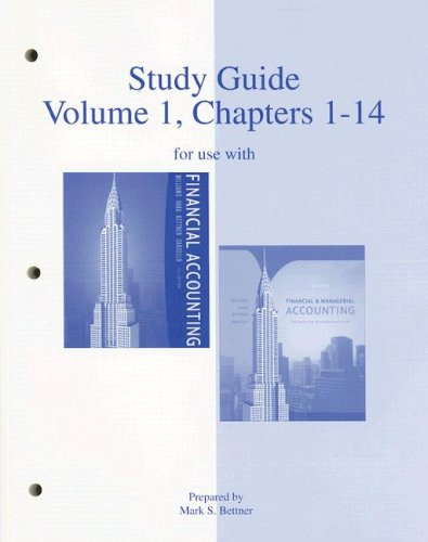 9780073268156: Study Guide, Volume 1, Chapters 1-14 to accompany Financial Accounting 13e, and Financial & Managerial Accounting 14e