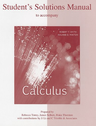 9780073268453: Student's Solution Manual to accompany Calculus Third Edition