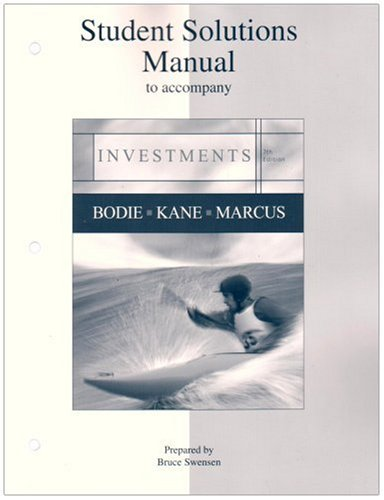9780073269702: Student Solutions Manual to accompany Investments