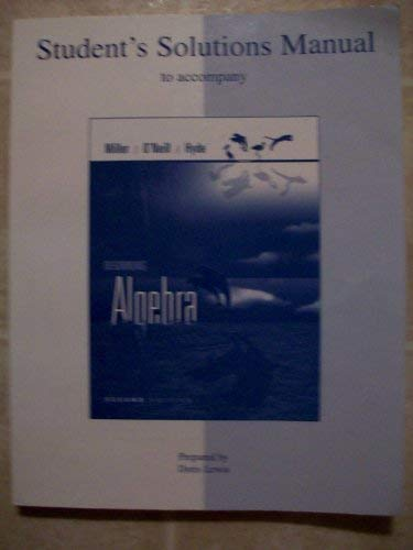 9780073270890: Student's Solutions Manual to Accompany Beginning Algebra