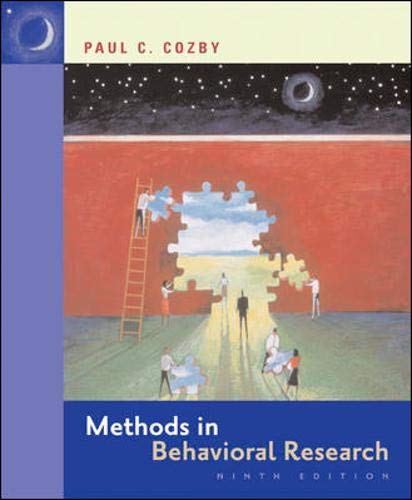 9780073271316: Methods in Behavioral Research with PowerWeb