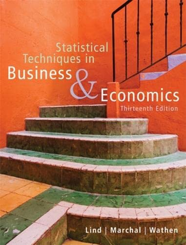 Statistical Techniques in Business and Economics: Samuel A. Wathen;