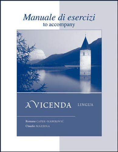 9780073274379: Workbook/Laboratory Manual Manuale di esercizi to accompany A Vicenda Lingua