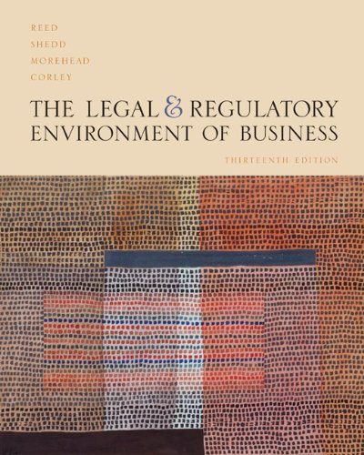 Legal and Regulatory Environment of Business w/YBTJ: O. Lee Reed,