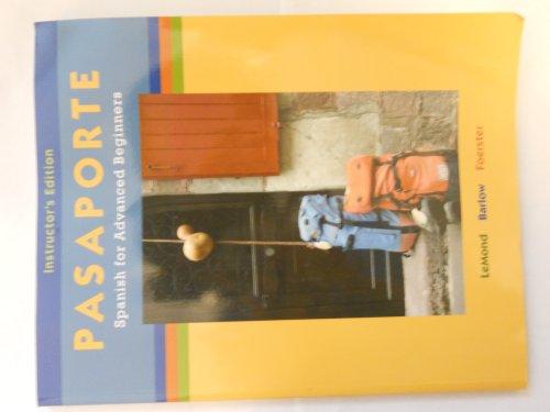 9780073275307: Pasaporte: Spanish for Advanced Beginners (Spanish Edition)