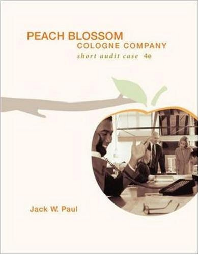 9780073276595: Peach Blossom Cologne Company with CD (Irwin Accounting)