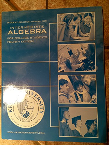 9780073277028: Student Solutions Manual for Intermediate Algebra for College Students