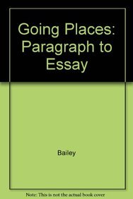 9780073278148: Going Places: Paragraph to Essay Annotated Instructor's Edition