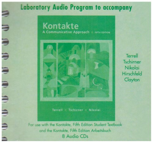 9780073279220: Laboratory Audio Program to accompany Kontakte: A Communicative Approach (English and German Edition)