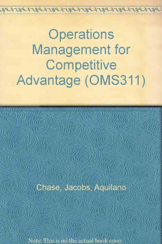 9780073279701: Operations Management for Competitive Advantage (OMS311)