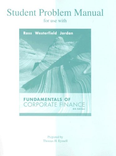 9780073282152: Student Problem Manual to accompany Fundamentals of Corporate Finance