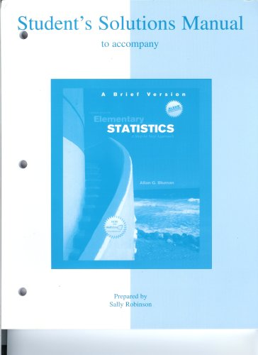 9780073283463: Students Solutions Manual to Accompany Elementary Statistics A Brief Version