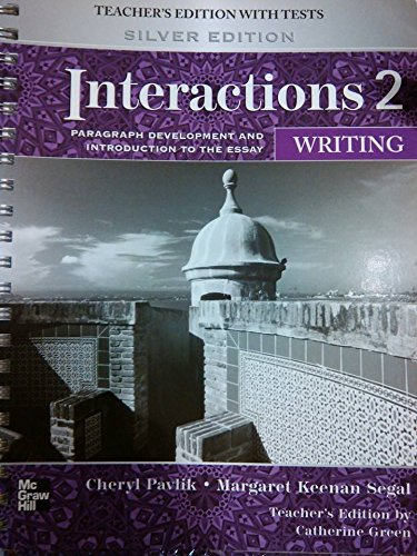 9780073283913: Interactions 2 Writing Teachers Manual