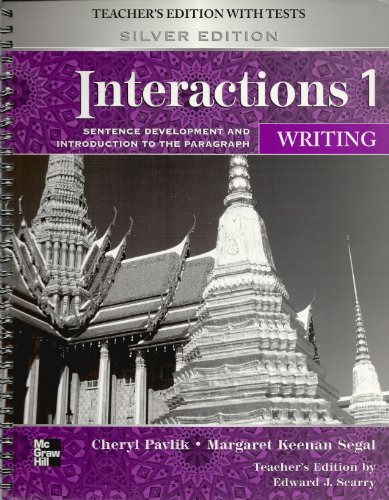 9780073283920: Interactions 1 Writing Teacher's Edition with Tests, Silver Edition