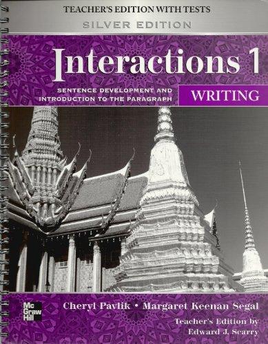 9780073283920: Interactions 1 Writing Teachers Manual