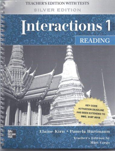 9780073283968: Interactions 1 Reading Teachers Manual