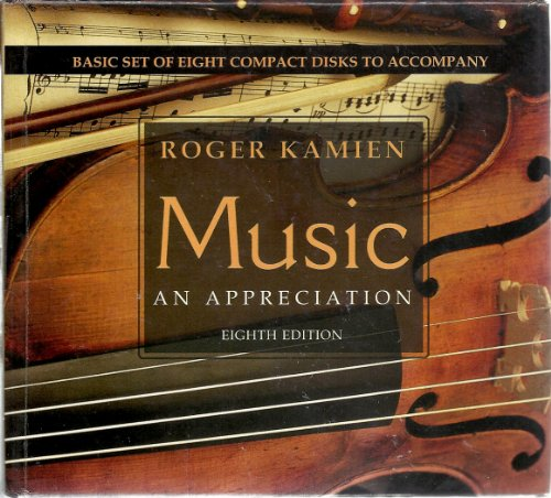 9780073284965: Music - an Appreciation: Basic Set of 8 Cd's