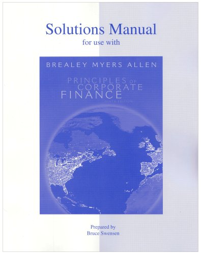 9780073286990: Solutions Manual to accompany Principles of Corporate Finance, 9th Edition