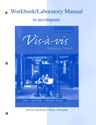9780073289465: Workbook/Lab Manual to accompany Vis-à-vis: Beginning French