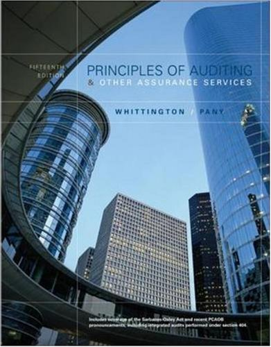 9780073291925: MP Principles of Auditing and Other Assurance Services with Updated Chapters 5, 6 And 7 (Chapters 5, 6 & 7)