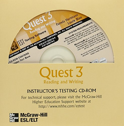 9780073292199: Quest Level 3 Reading and Writing EZ Test CD-ROM