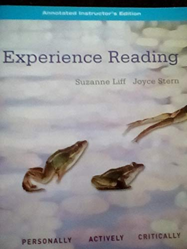 Experience Reading, Book 1 Annotated Instructor's Edition: Stern, Joyce, Liff,