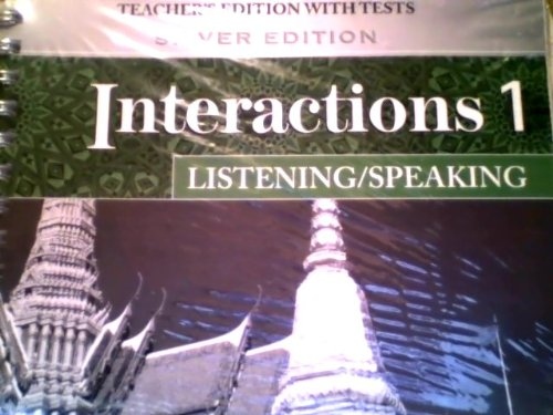 9780073294193: Interactions Level 1 Listening/Speaking Teacher's Edition