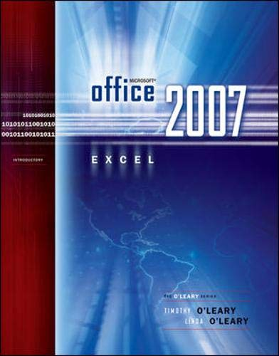 9780073294520: Microsoft Office Excel 2007 Introduction (O'Leary)