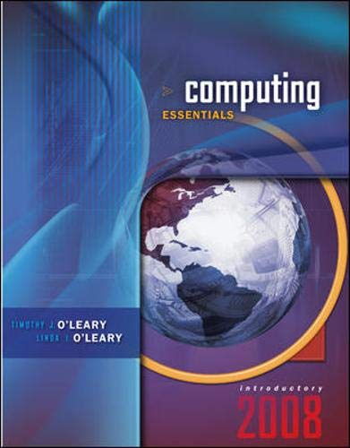 9780073294681: Computing Essentials 2008 Introductory Edition (O'Leary Series)