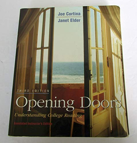 9780073295459: Opening Doors: Understanding College Reading