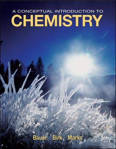 9780073301723: A Conceptual Introduction to Chemistry