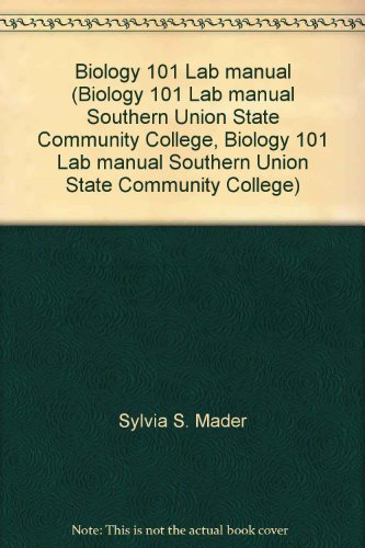 9780073301860: Biology 101 Lab manual (Biology 101 Lab manual Southern Union State Community College, Biology 101 Lab manual Southern Union State Community College)