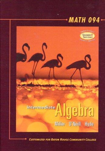 9780073302003: Intermediate Algebra : Math 094 (Customized for BRCC, Customized for BRCC)