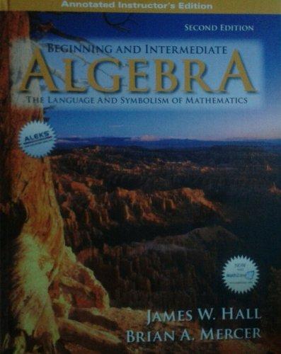 9780073303505: Beginning and Intermediate Algebra: The Language and Symbolism of Mathematics, AIE