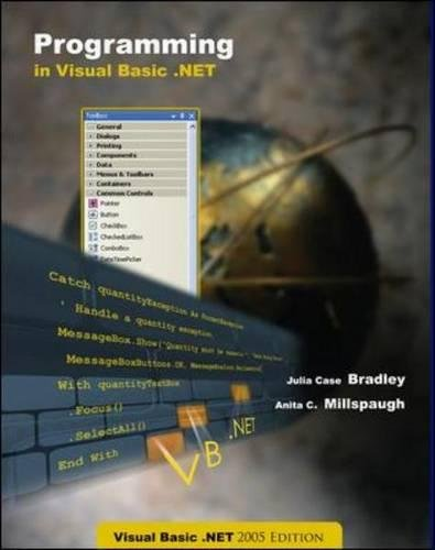 9780073304274: Programming VB.Net 2005 + CD + 180 day trial software
