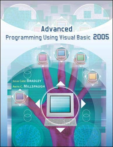 9780073304441: Advanced Programming Using Visual Basic 2005 w/ 180-day software and Student CD ROM