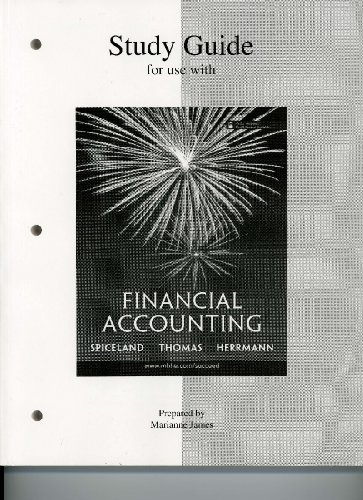 9780073306711: Study Guide For Use With Spiceland, Thomas and Herrmann, Financial Accounting