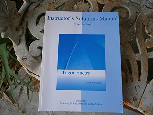 9780073307916: Instructor's Solutions Manual to accompany Trigonometry