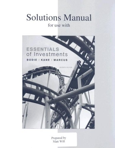 9780073308944: Solutions Manual for Use with Essentials of Investments