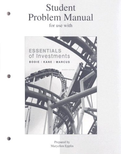9780073308951: Student Problem Manual for Use with Essentials of Investments