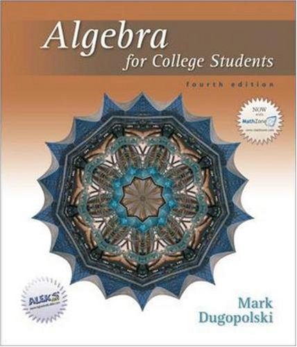 9780073309255: Algebra for College Students
