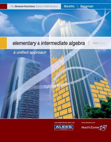 9780073309316: Elementary and Intermediate Algebra--Alternate Hardcover Edition (MP) (The Streeter Series)
