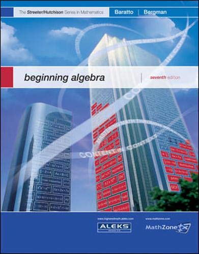 9780073309606: MP Beginning Algebra (The Streeter Series)