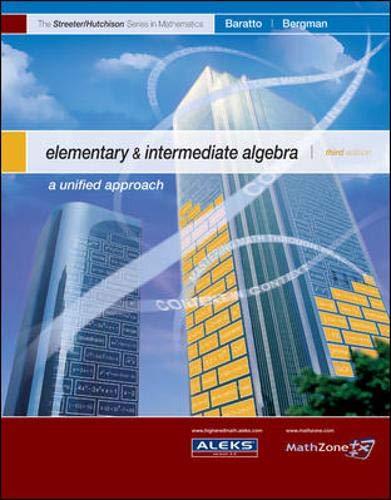 9780073309613: Elementary and Intermediate Algebra (MP) (The Streeter Series)