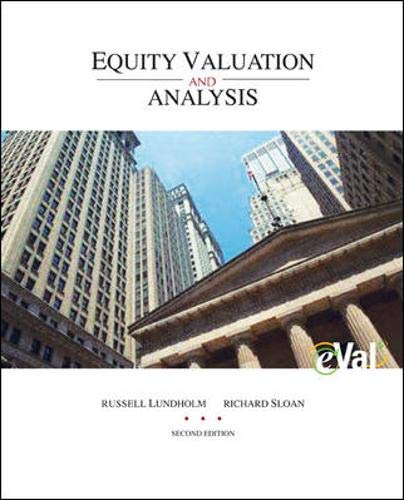 9780073309699: MP Equity Valuation and Analysis with eVal